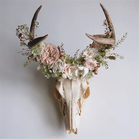 Decorated Deer Skull by Best 25 Deer Skull Decor Ideas On Deer Skulls