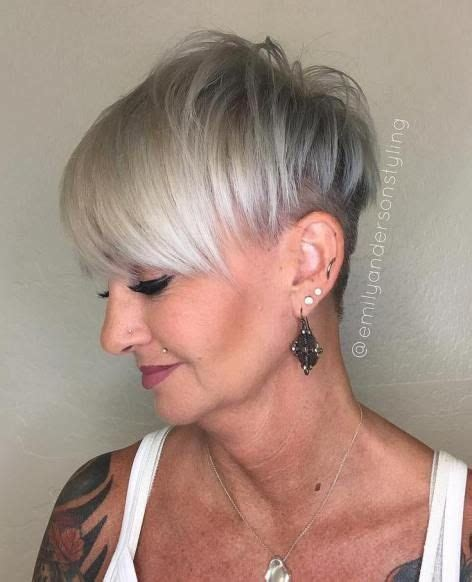 grey hair in 40 s 1404 best hairstyles for women over 40 images on pinterest