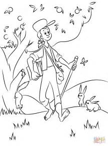 johnny appleseed free coloring pages