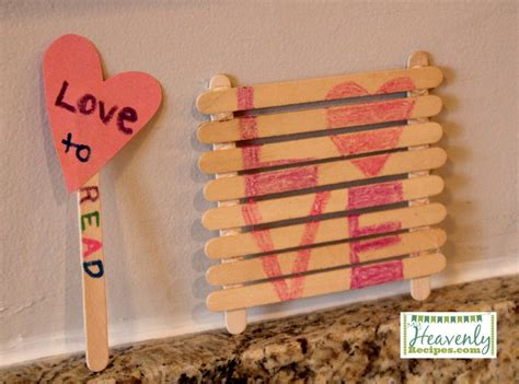 S Day Craft Using Popsiscle Sticks