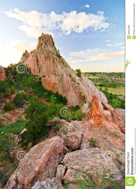 Garden Of The Gods Rock Formations Rock Formation At Garden Of The Gods In Colorado Springs Colorado Royalty Free Stock Photo