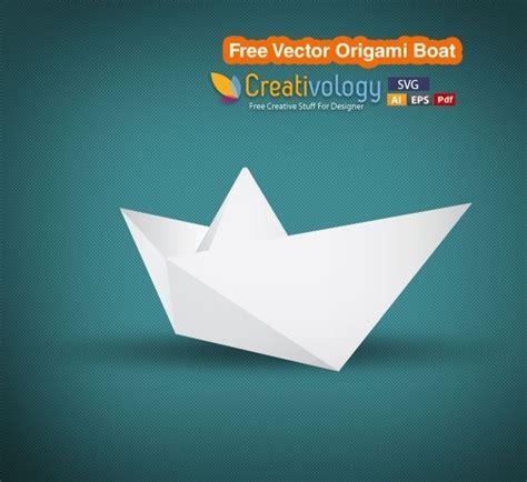 origami boat logo free vector origami boat free vector in adobe illustrator