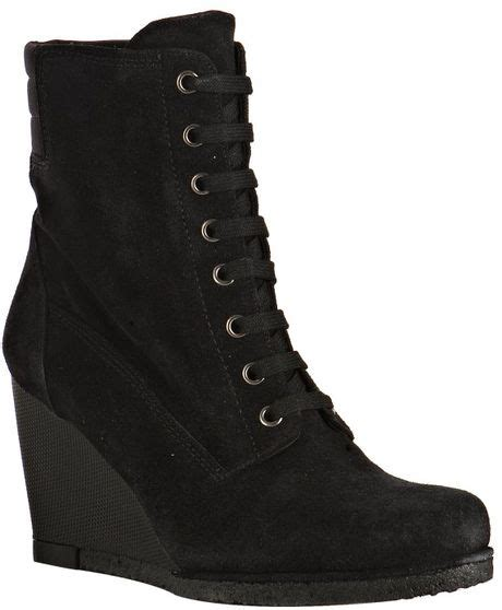 Stuart Weitzman Black Sport Studded Conan Boot by Stuart Weitzman Black Sport Suede Woodstock Lace Up Wedge