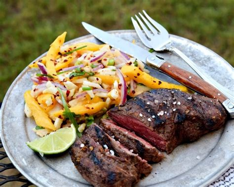flat iron steak house mango marinated flat iron steaks with jicama slaw recipe