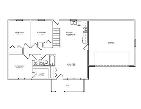 three bedroom floor plan 3 bedroom house plans home interior design