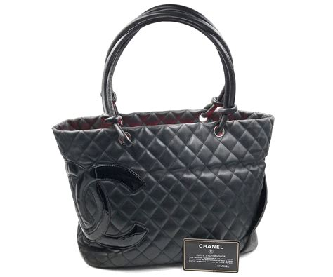 Salvatore Feragamo 2in1 3128 chanel black cambon pink lining tote shoulder bag