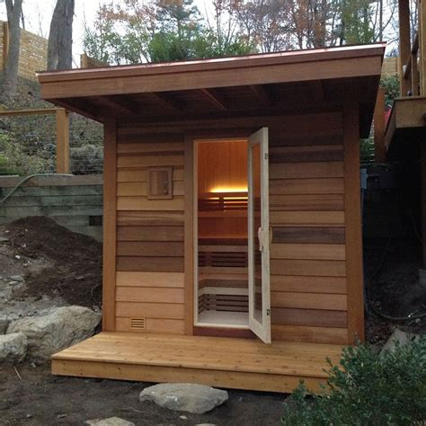 Backyard Sauna by Seattle Outdoor Sauna Design Store Sales Olympic Tub