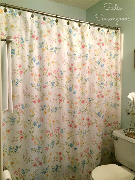 hometalk vintage bed sheet diy shower curtain