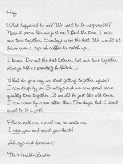 Jornal americano envia carta de amor para reconquistar