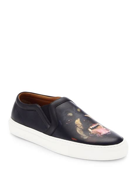 givenchy sneakers mens givenchy rottweiler leather skate sneakers in black for