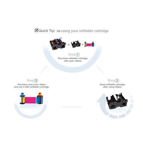 Fargo Color Ribbon Ymcko Cartridges 250 Images Prints Pn 45000 fargo 44270 color ribbon refillable cartridge ymcko id wholesaler