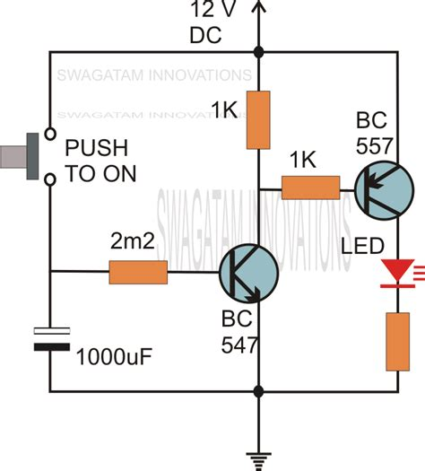 capacitor delay circuit what do you call a switch relay which switches on an appliance for a given set of time