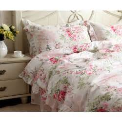 Red Shabby Chic Bedding by Pink Rose Bedding Set