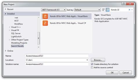 bootstrap templates for visual studio 2010 rocking kendo ui in visual studio 2012 and windows 8