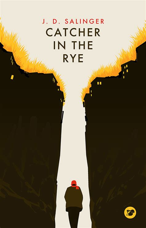 catcher in the rye theme project great book cover project 2 on behance