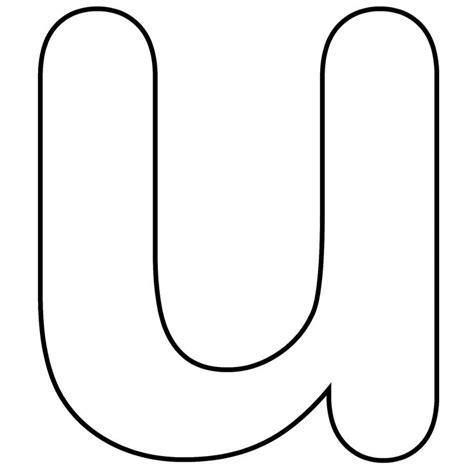 printable alphabet letter u printable lower case alphabet letter u template for kids