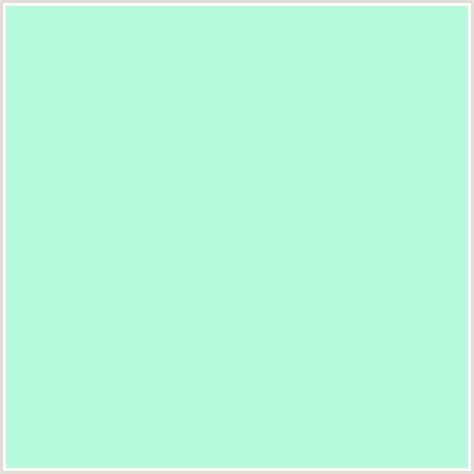 mint blue color b6fadc hex color rgb 182 250 220 green blue mint