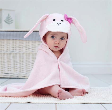 Palmerhaus Baby Towel Pink bunny hooded baby bath towel gift set bathing bunnies