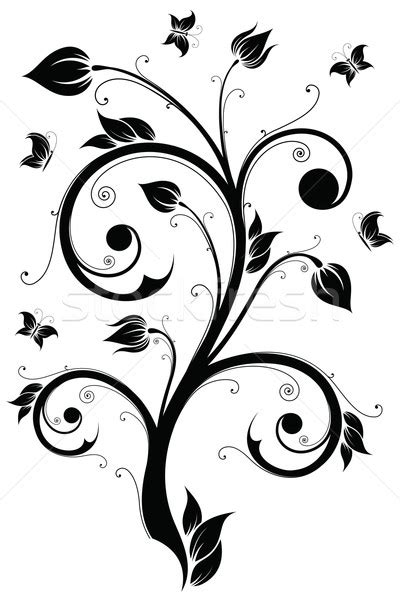 floral design element vector illustration vector