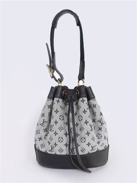 louis vuitton noelie mini monogram bucket bag blue