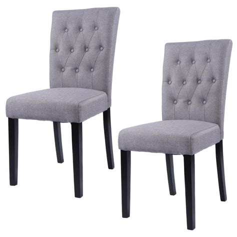 Armless Living Room Chairs by Set Of 2 Fabric Dining Chair Armless Chair Home Kitchen