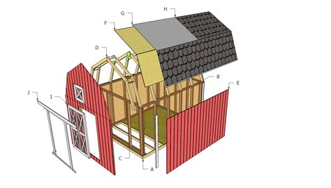 gambrel barn plans barn shed plans howtospecialist how to build step by