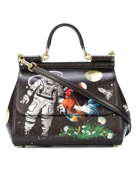 Dolce Gabbana Handbag Sale And Space Nk Seaweed Products The Best Stories From Shiny Media by Dolce Gabbana Sicily Astronaut Printed Tote Bag In Black