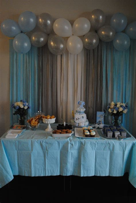 Backdrop Baby Shower by The Meads S Elephant Themed Baby Shower