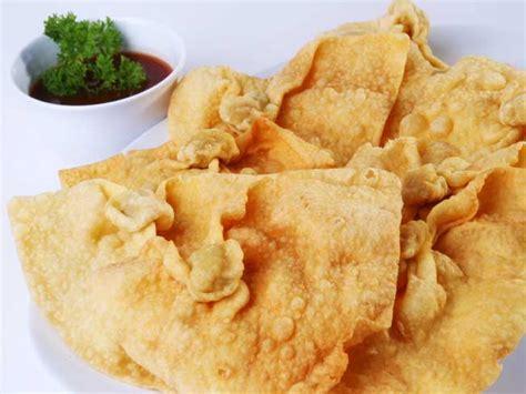 Wajan Goreng Kerupuk resep cara membuat kerupuk pangsit gurih dan renyah