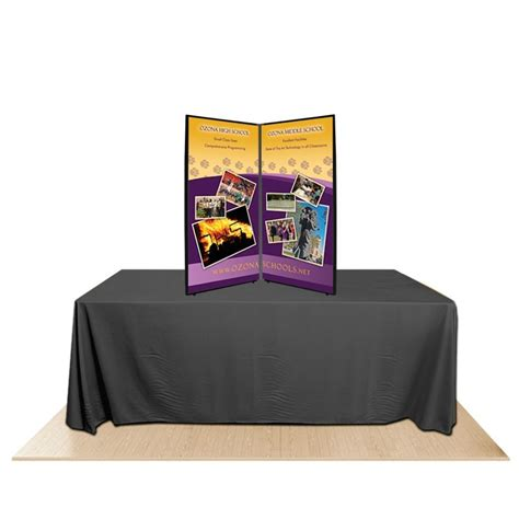 Table Top Display 2 panel promoter45 table top display kit 2