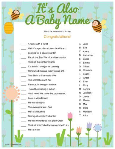 printable quiz for baby shower fun baby baby showers and showers on pinterest