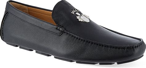 bally mocasin leather hitam bally wacres crest driving shoes for in black for