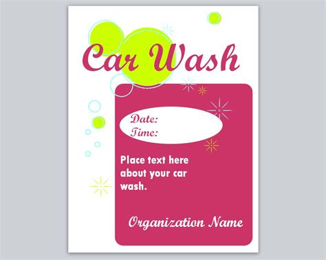 car wash template printable templates printable microsoft templates