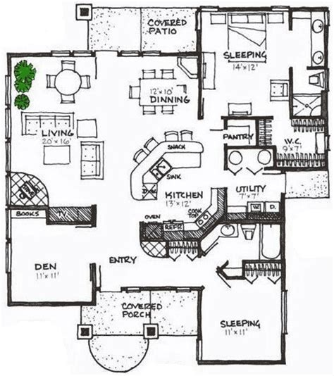 Energy Saving House Plans Energy Efficient House Plan With Bonus 16601gr