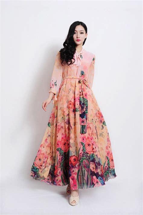 dress 2014 summer flower print plus size