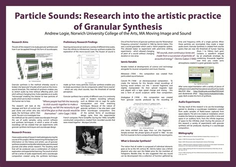 design poster academic granular synthesis academic conference poster