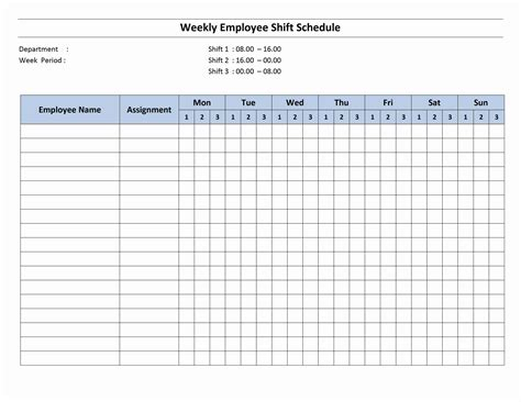 sample work schedule template agi mapeadosencolombia co