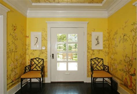 dachschrã tapezieren beispiele flur gelb die neuesten innenarchitekturideen
