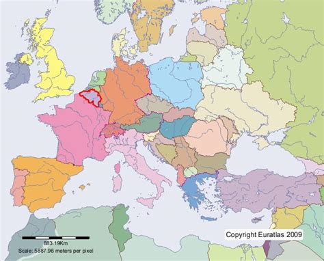 map of europe belgium euratlas periodis web map of belgium in year 2000