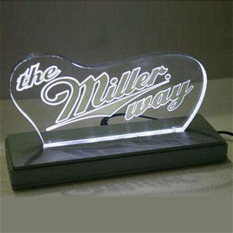 laser engraved with lighted led base led back bar edge lit sign with laser engraved base and