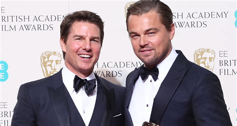 film tom cruise 2016 tom cruise congratulates leonardo dicaprio at baftas 2016