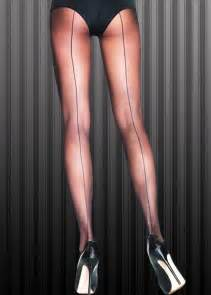 Flapper girl 1920s black sheer seamed tights 9002 blk struts party