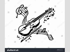 Violin clipart orchestra instrument - Pencil and in color ... Music Instruments Clipart Black And White