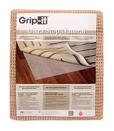 grip it rug pad grip it ultra stop non slip rug pad for rugs on surface floors 5 by 8 home