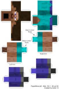 Minecraft Papercraft Templates by Large Minecraft Papercraft Templates Papercraft