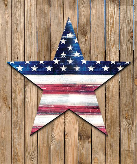 Wholesale Country Home Decor by Usa Flag Star Rustic Painted Wooden Shape