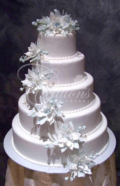 Flowers For Wedding Cakes by Blue Flower Wedding Cake Www Pixshark Images