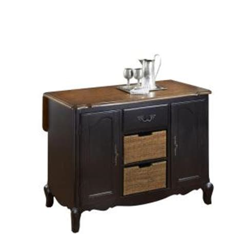 splendid black kitchen island with drop leaf from home home styles french countryside 48 in w drop leaf kitchen