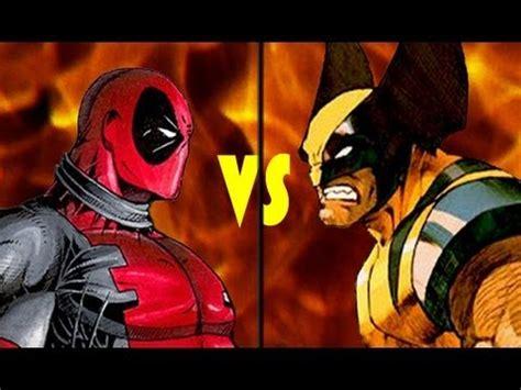 imagenes de wolverine vs deadpool wolverine vs deadpool deathmatch youtube