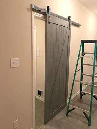 sliding barn door installation d i y barn door install